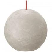 Bolsius lichtgrijs rustiek bolkaars Ø 76 mm (25 uur) Eco Shine Sandy Grey