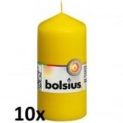 10 stuks geel stompkaarsen 120/60 van Bolsius extra goedkoop in een voordeel verpakking