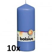 10 stuks blauw stompkaarsen 150/60 van Bolsius extra goedkoop in een voordeel verpakking