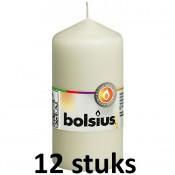 12 stuks Bolsius stompkaarsen ivoor 120/58