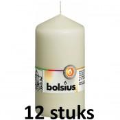 12 stuks Bolsius stompkaarsen ivoor 130/68