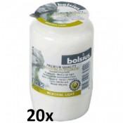 20 stuks witte Bolsius graflichten nr. 3 in een voordeel verpakking