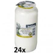 24 stuks witte Bolsius graflichten nr. 7 in een voordeel verpakking