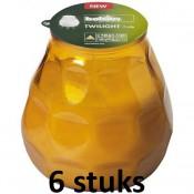 6 stuks amber Bolsius twilight terraskaarsen 104/99