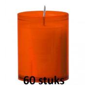 Refill kaarsen oranje 60 stuks