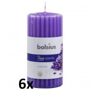 6 stuks Bolsius french lavender geurkaarsen