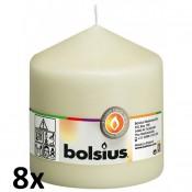 8 stuks ivoor stompkaarsen 100/100 van Bolsius extra goedkoop in een voordeel verpakking