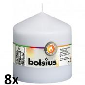 8 stuks wit stompkaarsen 100/100 van Bolsius extra goedkoop in een voordeel verpakking